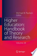 Higher Education Handbook Of Theory And Research Book PDF