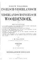 Nieuw volledig Engelsch-Nederlandsch en Nederlandsch-Engelsch woordenboek ...: Nederlandsch-Engelsch. [1892