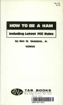 How to be a ham, including latest FCC rules - Ken W