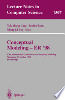 Conceptual Modeling   ER  98