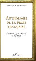 Pdf Anthologie de la prose française Telecharger
