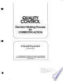 Quality Control Decision Making Process For Corrective Action