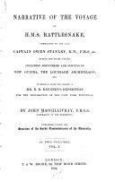 Narrative of the Voyage of H M S  Rattlesnake  Commanded by the Late Captain Owen Stanley During the Years 1846 50
