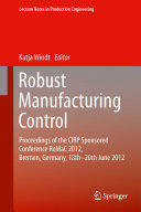 Pdf Robust Manufacturing Control