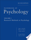 Handbook of Psychology  Research Methods in Psychology Book