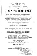Wolfe s Mercantile Guide  Gazetteer  and Business Directory