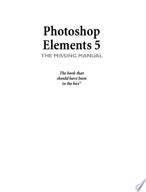 Download Photoshop Elements 5 Free Books - Read Books