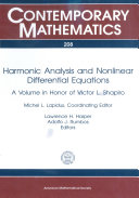 Harmonic Analysis and Nonlinear Differential Equations