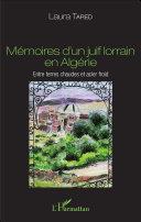 Pdf Mémoires d'un juif lorrain en Algérie Telecharger
