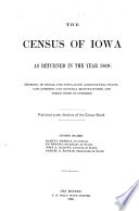 Census of Iowa for the Year     Book