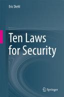 Ten Laws for Security Pdf/ePub eBook