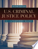 U S Criminal Justice Policy