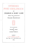 Stories For Children By Charles Mary Lamb 1914