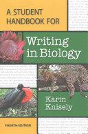 A Student Handbook for Writing in Biology   Writer s Help 2 0 for Hacker Handbooks  Twelve Month Access