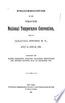 Proceedings of the     National Temperance Convention