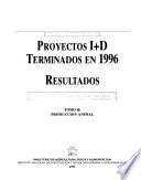 Proyectos I+D terminados en 1996: Producción animal