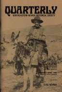 Pdf Quarterly - Northeastern Nevada Historical Society