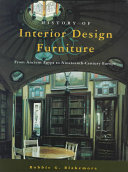 Cover of History of Interior Design and Furniture