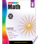 Spectrum Math Workbook  Grade 8