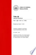 Title 26 Internal Revenue Part 1       1 1001 to 1 1400   Revised as of April 1  2014  Book PDF