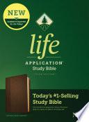 NLT Life Application Study Bible  Third Edition  Leatherlike  Dark Brown Brown