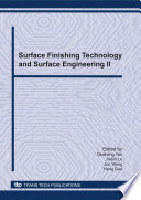 Surface Finishing Technology And Surface Engineering Ii Book PDF