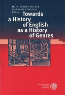 Towards a History of English as a History of Genres