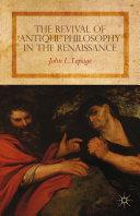 The Revival of Antique Philosophy in the Renaissance Pdf/ePub eBook