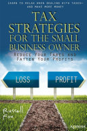 Tax Strategies for the Small Business Owner