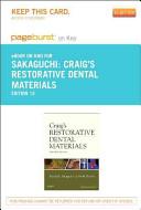 Craig s Restorative Dental Materials   Pageburst E Book on Kno  Retail Access Card