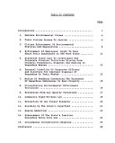 Recommendations for Environmental Legislation     Session