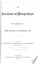 The Local Courts' and Municipal Gazette