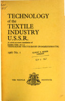 Technology of the Textile Industry, U.S.S.R.
