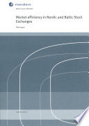 Market Efficiency In Nordic And Baltic Stock Exchanges Final Report Book PDF