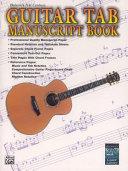 Belwin s 21st Century Guitar Tab Manuscript Book