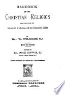 Handbook Of The Christian Religion For The Use Of Advanced Students And The Educational Laity Book PDF