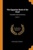 The Egyptian Book of the Dead Book
