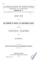 Report on the Conditions of Tropical and Semi-tropical Fruits in the United States in 1887