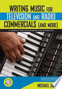 Writing Music for Television and Radio Commercials  and more  Book