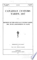 Canadian Customs Tariff, 1907