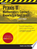 Cliffsnotes Praxis II Mathematics Content Knowledge Test (5161) 3rd Edition