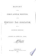 Report of the     Annual Meeting of the Kentucky Bar Association