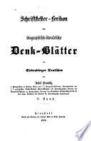 Schriftsteller-lexikon oder biographisch-literärische denk-blätter der Siebenbürger Deutschen: bd. Gaudi-Myss. 1870