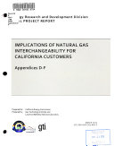 Implications of Natural Gas Interchangeability for California Customers