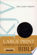 Large Print Compact Reference Bible KJV Magnetic Flap Closure