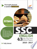 SSC English Topic-wise LATEST 43 Solved Papers (2010-2017) 2nd Edition