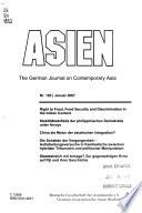 Asien  , Edições 102-105