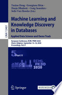Machine Learning and Knowledge Discovery in Databases  Applied Data Science and Demo Track Book