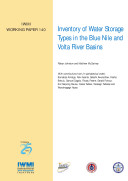 Inventory of water storage types in the Blue Nile and Volta River Basins