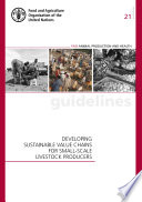 Developing Sustainable Value Chains For Small Scale Livestock Producers